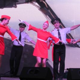 Танец Танцевальный рейс на 75-летии Внуково